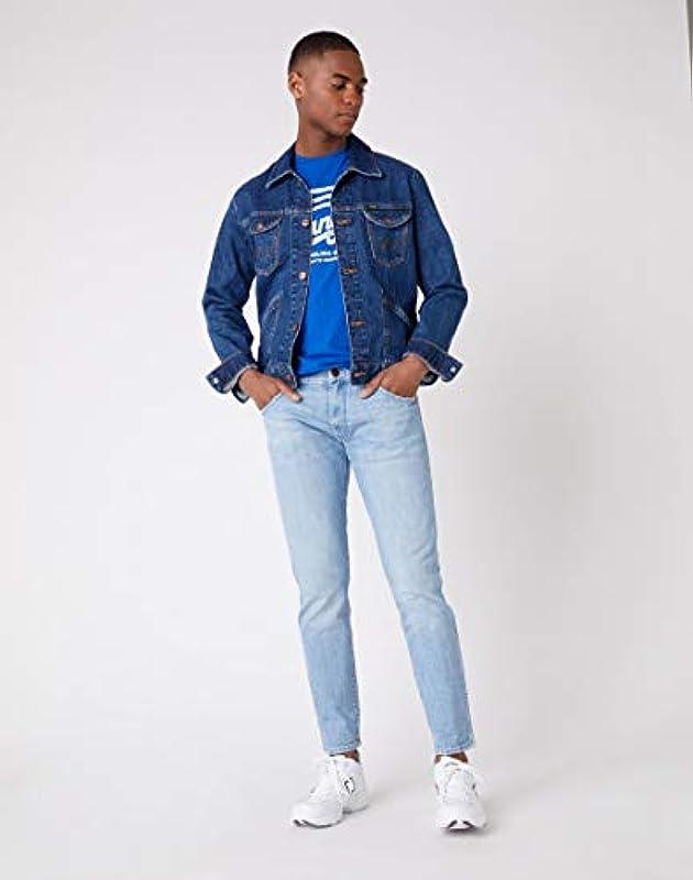 Wrangler Męskie Larston Slim Jeans: Odzież