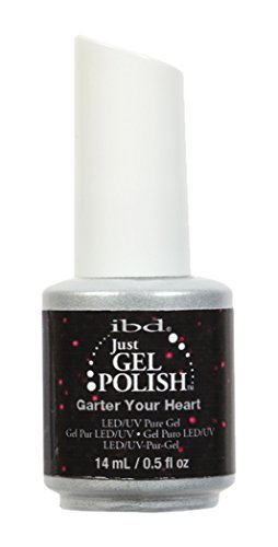 IBD Just Gel Soak Off Red Glitter Nail Polish, Garter Your H