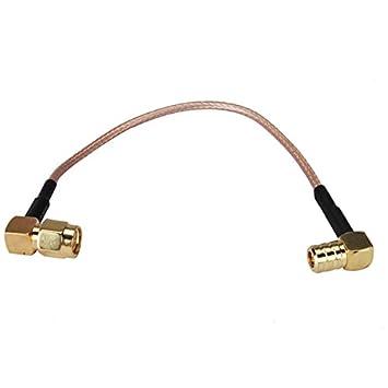 RF Cable coaxial SMA enchufe de ángulo recto a SMB enchufe rihgt ángulo para RG316 15