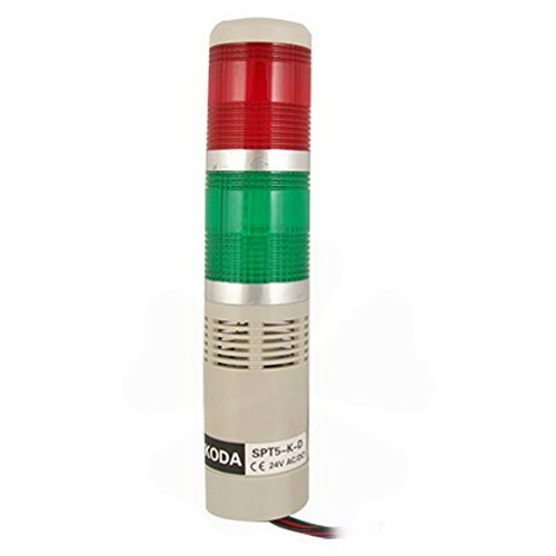 Red Green R/G LED Industrial Tower Signal Light Stack Alarm Lamp by Fuxell