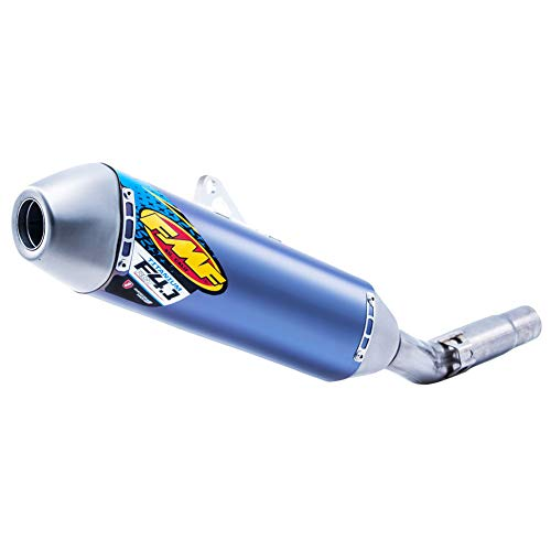 Silencer Factory Fmf 4.1 - FMF Factory-4.1 Anodized Titanium Silencer with SS Mid-Pipe Anodized Blue - Fits: Yamaha YZ250F 2006-2009