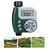 KAMUNG Single Outlet Hose Faucet Timer with Large Digital Display Automatic Smart Intelligence Watering Kits for Garden Greenhouse