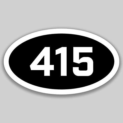 DHDM 415 Area Code Sticker California San Francisco Novato San Anselmo City Pride Love | 5-Inches by 3-Inches | Premium Quality Vinyl UV Resistant Laminate PD2392 -