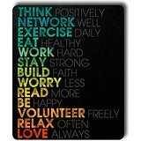 Inspirational Quotes Customized Rectangle Mouse Pad,Gaming Mouse Pad