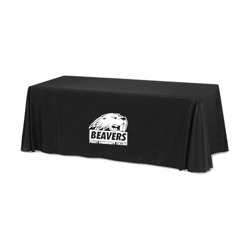 Pratt CC Black 6 foot Table Throw 'Official Logo' by CollegeFanGear