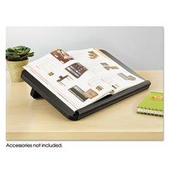 -- Ergo-Comfort Read/Write Freestanding Desktop Copy Stand, Wood, Black