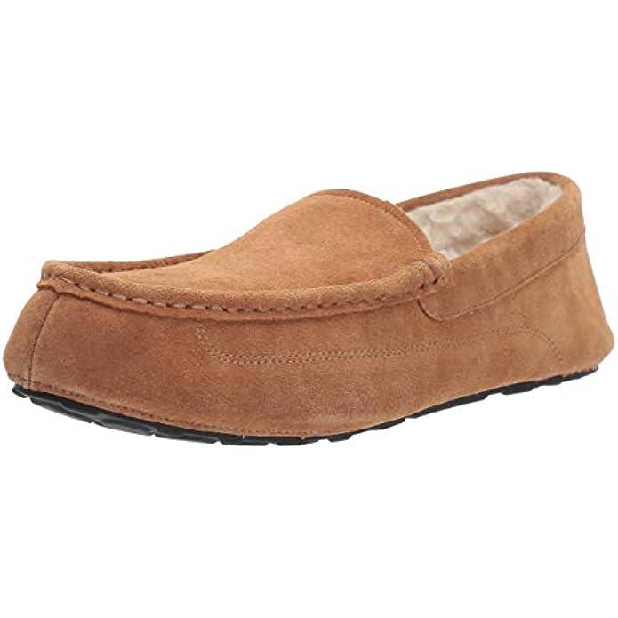 Amazon Essentials Men's Sierra Leather Moccasin Slipper