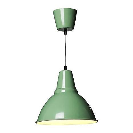 ikea Foto , Lampadario singolo in alluminio smaltato, 25 cm, colore verde