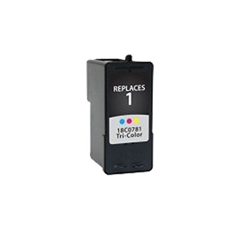 Remanufactured Ink Cartridge Replacement for Lexmark #1 18C0781 (1 Color) 1 Pack (Colour 18c0781)