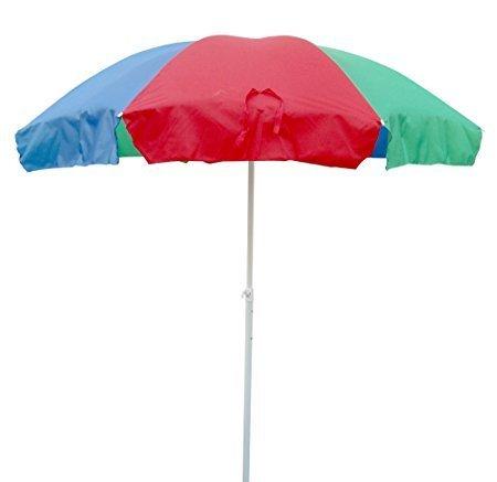 BM & Sons Garden Umbrella/Patio Umbrella/Outdoor Umbrella with Base Blue Colored