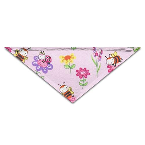 OLOSARO Dog Bandana Cute Honeybee Triangle Bibs Scarf Accessories for Dogs Cats Pets -