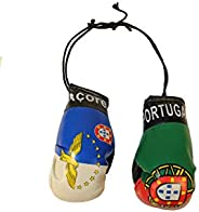 ACORES AZORES & PORTUGAL Country Flags Mini BOXING GLOVES.