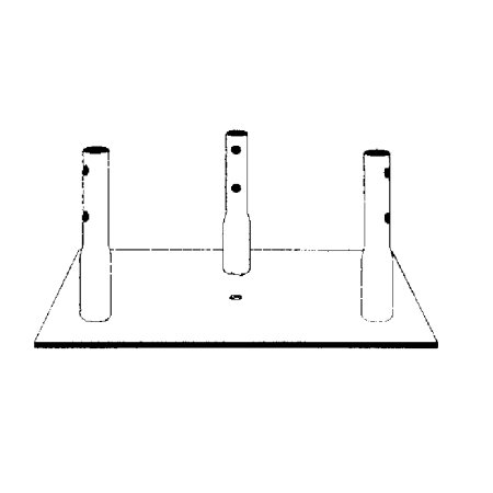 (ROHN BPC25G Concrete Base Plate for 25G Tower )