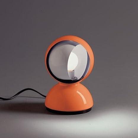 Artemide Eclisse E14 Naranja lámpara de mesa - Lámparas de ...