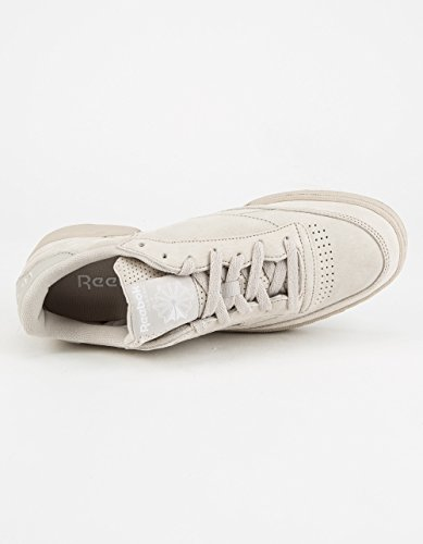 Reebok Mens Club C 85 Sg Fashion Sneaker Sand Stone / White