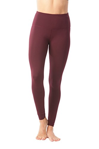 90 Degree by Reflex - High Waist Powerflex Legging - Tummy Control - Burgogne - (Low Priced Boots)