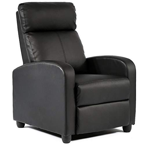 BestMassage Modern Leather Chaise Couch Single Recliner Chair Sofa Furniture (Renewed)