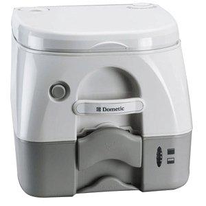 Dometic SeaLand 974MSD Portable Toilet 2.6 Gallon Grey w/Brackets