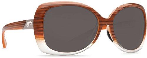 Costa Del Mar Sea Fan Women's Polarized Sunglasses, Wood Fade/Gray 580P, - End High Manufacturer Sunglasses