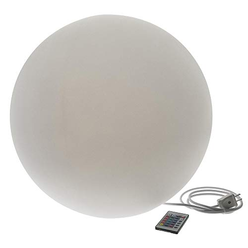 Glowing Sphere - Modern Home Deluxe LED Glowing Sphere w/Infrared Remote Control - Direct Wired 20
