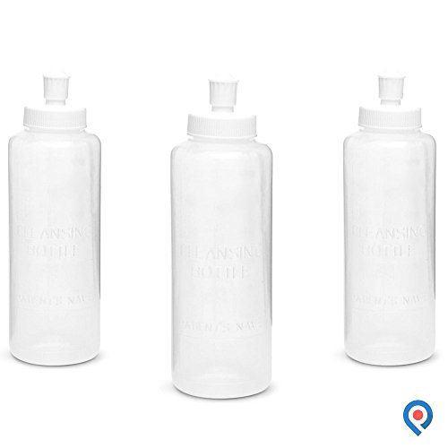 Pivit Portable Bidet Squeeze Bottle | 8 Oz | Pack of 3 | Adjustable Water Flow Helps Heal and Reduce Irritation | BPA Free Hand Held Peri Wash Cleanses Cleans & Soothes | Multi-Use Perineal Irrigation ()