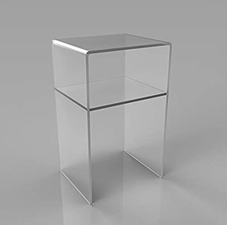 Astroplastic Tavolino Comodino Sgabello Soggiorno Salotto con mensola cm Misure: cm H55 x L35 x P33 - Spessore 10mm