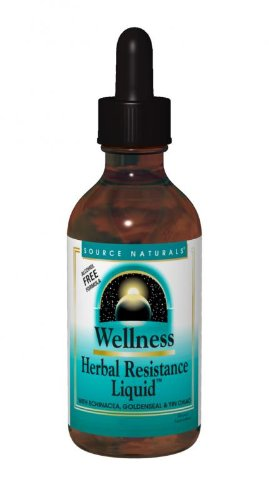 Source Naturals Wellness Herbal Resistance Liquid (Alcohol Free Formula), 4 (Resistance Support Formula)