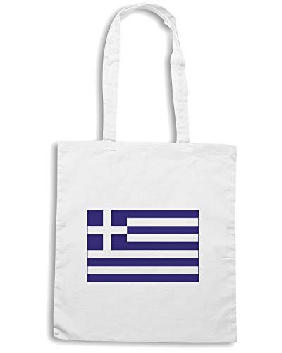Speed Shirt Borsa Shopper Bianca TM0194 GREECE FLAG