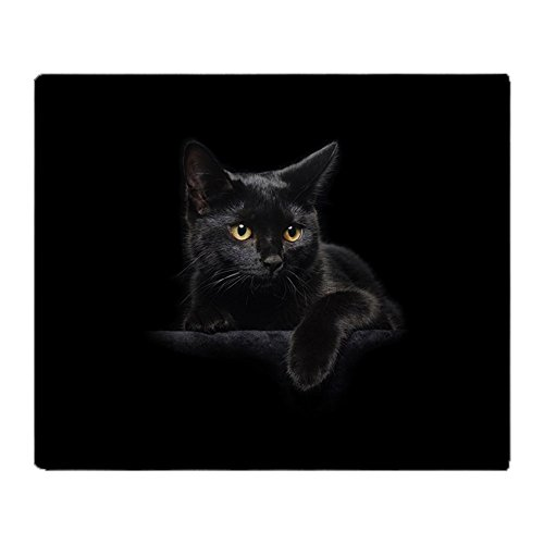 (CafePress Black Cat Soft Fleece Throw Blanket, 50