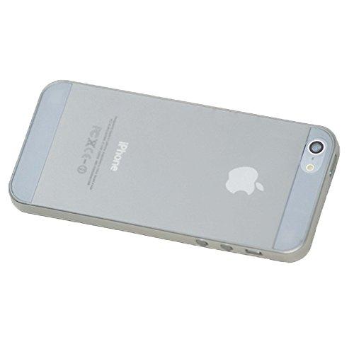 Liamoo ultra dünne Schutzhülle iPhone 5s / 5 Hülle sehr dünn in weiß transparent