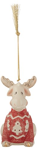 Lenox 870927  Christmas Sweater Ornament Moose