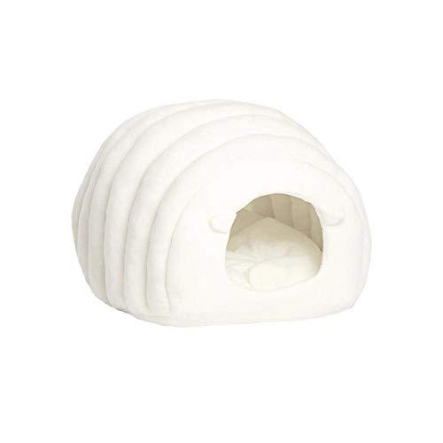 Vivi Bear Katzenbett Hundebett Weiches und bequemes Katzenkissen,waschbar,leicht zu tragen,warm zu halten,Donut…