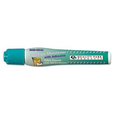 Quality Park 46066 Dab n' Seal 2Go Moistener Pens, 10 mL, Teal, 2/Pack
