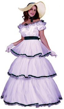 Southern Belle Costume - Small/Medium - Dress Size (Southern Belle Costume Adult)