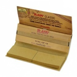 Raw Classic Connoisseur 1.25 1 1/4 Rolling Paper With Tips 1 Pack