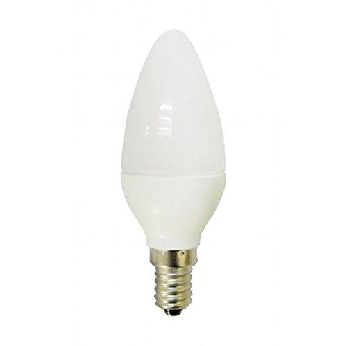 Bombilla 6w LED tipo vela. Rosca E14. 500Lm equivalente a 60w. Luz neutra 4500K: Amazon.es: Iluminación