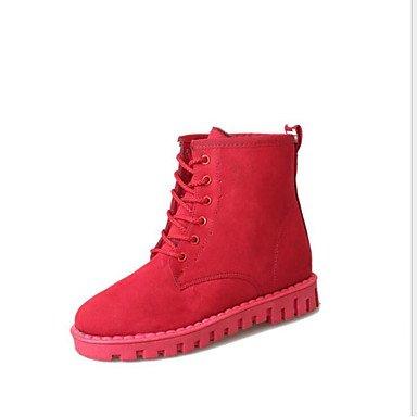 La MujerS Zapatos Botas Botas de Nieve de Invierno Polar Botines/Botines Informales Rojo Amarillo