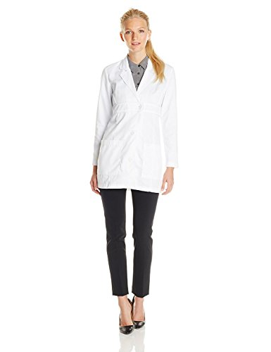 Lab Bust (Med Couture Women's Lab Coat with Patch Pockets, White, 6)