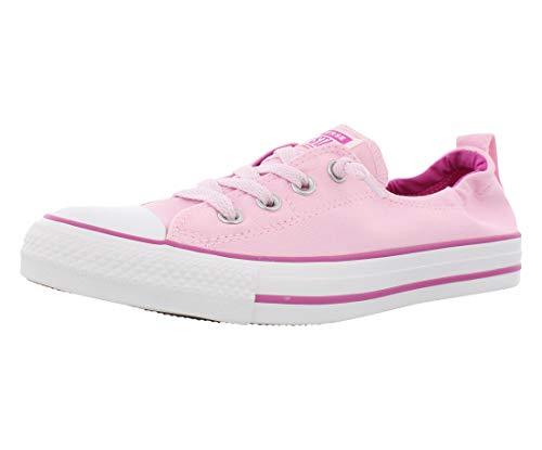 Converse Women's Chuck Taylor All Star Shoreline Linen Slip On Sneaker, Pink Foam/Active Fuchsia/White 10 M ()