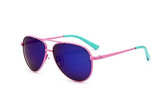 M_Eshop Classic Kids Aviator Sunglasses Metal Frame Reflective Lenses - Sunglasses Face Which Shape For