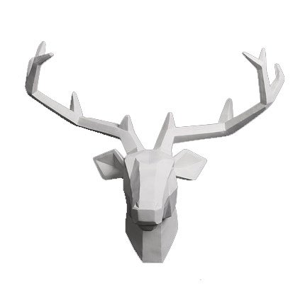 lianxi industrial and trade Deer Head Wall Sculpture Animal Head Wall Hanging Resin Deer Head Home Decor Head Craft Gift (Large, White Deer1) by lianxi industrial and trade