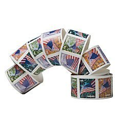 USPS Forever Stamps, Coil of 100 US Flag Postage Stamps (2016 or 2017 version) by USPS