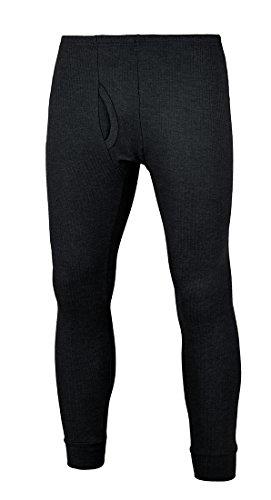 Herren Thermo Unterhose - Extra warm und weich durch Innenfleece Anthrazit L
