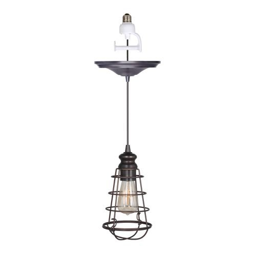 Worth Home Products Instant Screw In Pendant Light with W...