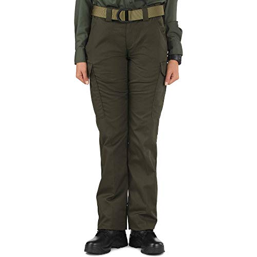 5.11 Women's Twill PDU Class-B Tactical Pants, Style 64306, Sheriff Green, 4