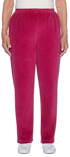 (Alfred Dunner Stretch Velour Pants Ruby 16)