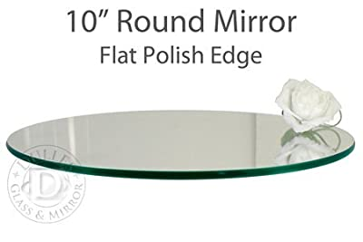 TroySys Round Glass Table Mirrors for Wedding & Party Centerpieces, Set of 10, 10""