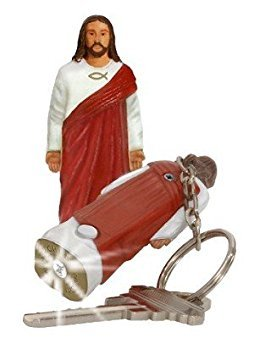 Jesus Christ Figure Flashlight Keychain Religious Ichthys (Jesus Light)