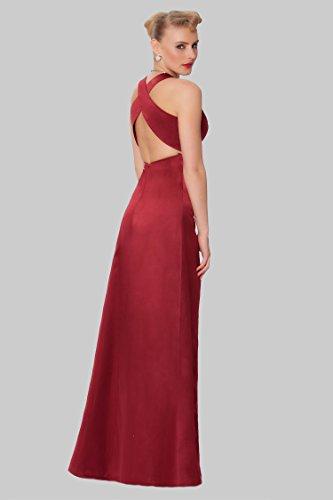 de cuerpo Gorgeous entero de Encuadre de formal SEXYHER damas noche Escarlata de vestido EDJ1585 honor dv1qtwBSx