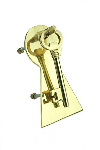 Door Knockers Lacquered Brass Door Knocker Key 6 H X 3 1/2 (Lacquered Vintage Brass Door)